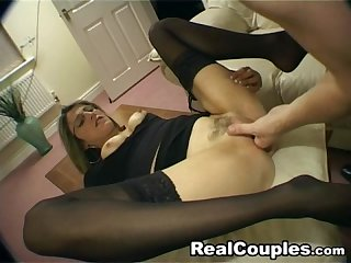 British wife takes Painful anal