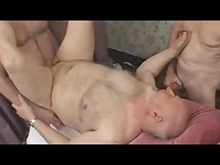 Hot daddy bear threesome