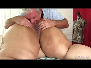 Lucky guy massages and eats alt bbw asshole