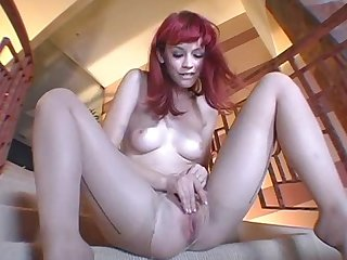 Red head does a private show