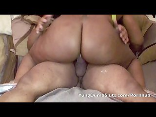 Daddy gets a thick red yds yung dumb slut
