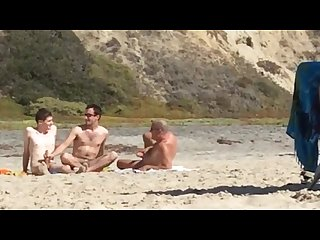 Gay nude beach candid group jerk