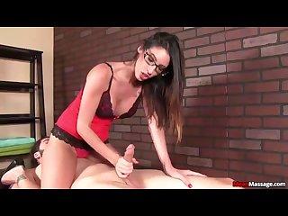 Hot brunette dominant cock treatment