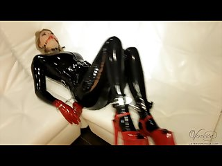 Latex veronica self bondage in latex