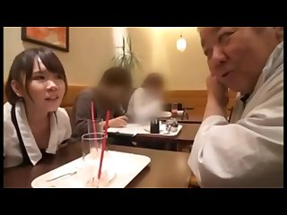 Shy Japanese Daddy fucks with petite girl.