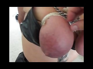 Big tit bound painslut sucks cock