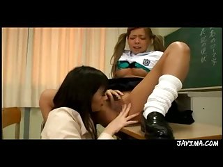 Japanese Teacher And Teen Lesbian Lick