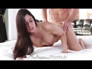 Puremature milf Nikki daniels opens her pussy for a big cock