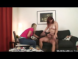 She watches mother in law rides his cock