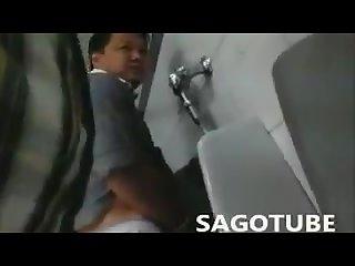 Open door blowjob Toilet
