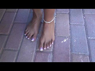 Ebony long toenail foot goddess