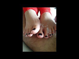 Brazilian footjob mah and bocage