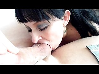 Sex addicted chick gives psychiatrist a sloppy bj licks his balls
