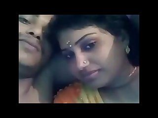 Indian husband wife kiss and boob pressing