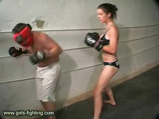 Beauty vs human punching bag