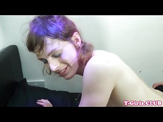 Tgirl analfuck doggystyle after rimjob