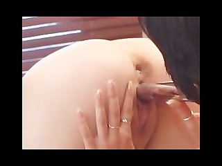 Beautiful pregnant girl in lesbian action