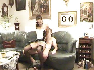Horny amateur maid banged by a russian cock