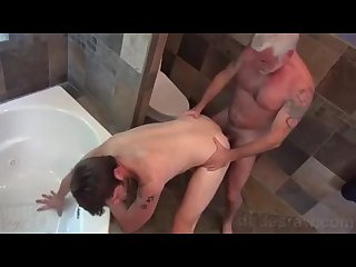 Silver daddy barebacks cute younger