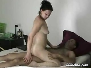 Webcam milf masturbates and sucks cock