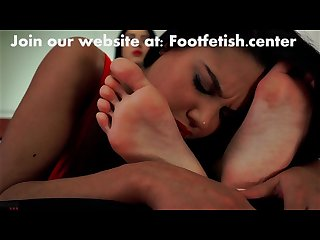Perfect feet gets worship by young girl