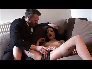Real Amateur Submissive Choking Cock Stuffed Deep Orgasm