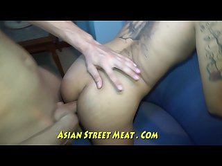 Wire up teeth and gaiping asian ass hole