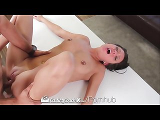 Castingcouch x hot brunette brooke myers first porn audition
