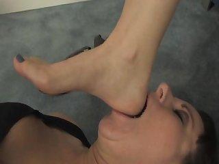Foot lesbian domination