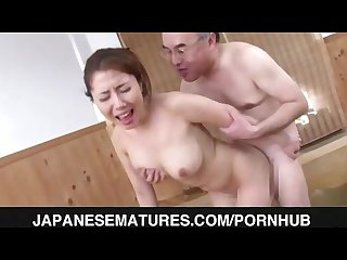 Sleazy mature nailed in the sauna