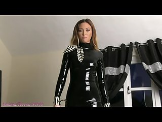 Natalia forrest in black latex dress