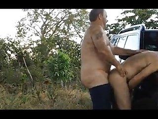 2 bears fuck outside