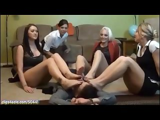 4 secretaries foot domination