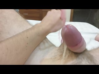Handsfree prostate milking oozing precum and a huge flow of cum