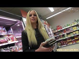 Lucy cat fucking in supermarket sex im supermarkt public