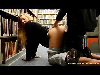 Gorgeous teen minx loves very risque library sex