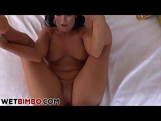 Huge tits stepmom sucks and fucks in the living room