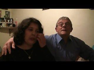 Grosse arabe avec son mari