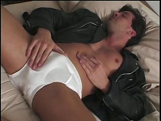 Tony de sergio strokes his hot cock