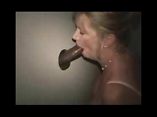 Blonde mature in gloryhole