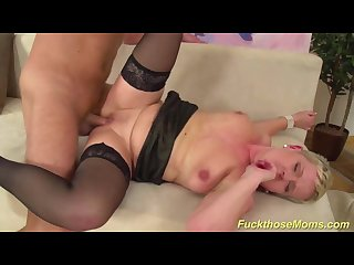 Busty stepmom needs a strong dick