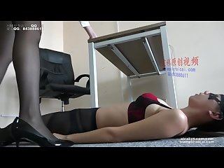 Chinese foot worship lesbian office foot worship