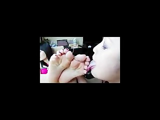 Lesbian asian feet worship compilation