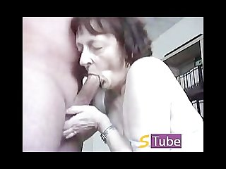 German deutsch granny homemade oral sex and facial