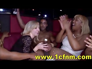 Women go berserk for stripper cock at cfnm club