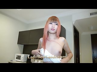 Taste sperm on solid gold ladyboy