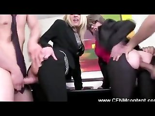 Cfnm milf office sluts fucked anal with big hard cocks