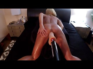 Hot wife takes on john holmes 12 inch dildo doggy style