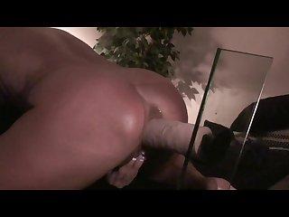 Amateur wife rides huge vibrating dildo hard cum shot