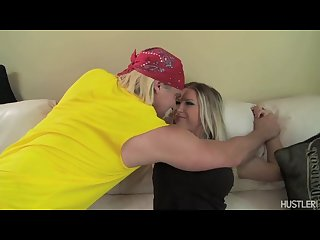 Hulk Hogan gets dick sucked by big tit blonde Devon Lee (porn parody)